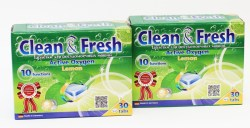 CLEAN&FRESH Таблетки для ПММ 5в1 - Clean & Fresh 30шт