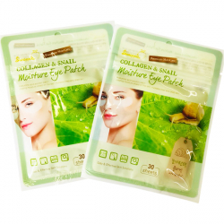 Skinapples Патчи д/кожи вокруг век Collagen & Snaill Moisture Eye Patch*30шт
